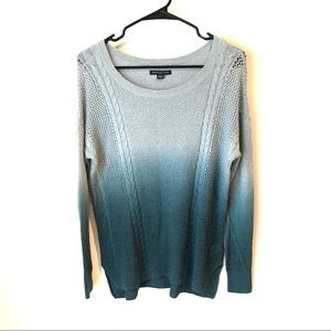 NWT $45 American Eagle S Blue Ombré knit Sweater